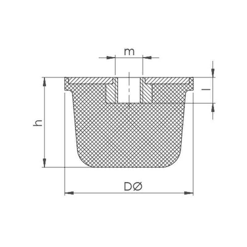 gummipuffer typ ke 3 15. Black Bedroom Furniture Sets. Home Design Ideas